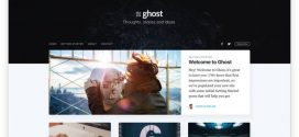 Ghost, the open source blogging system, is ready for prime time